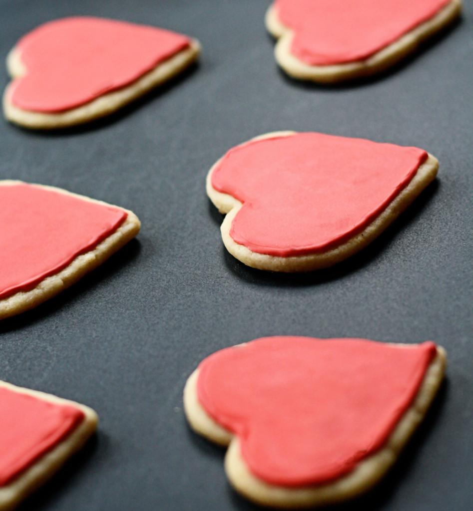 Valentineheartsugarcookies