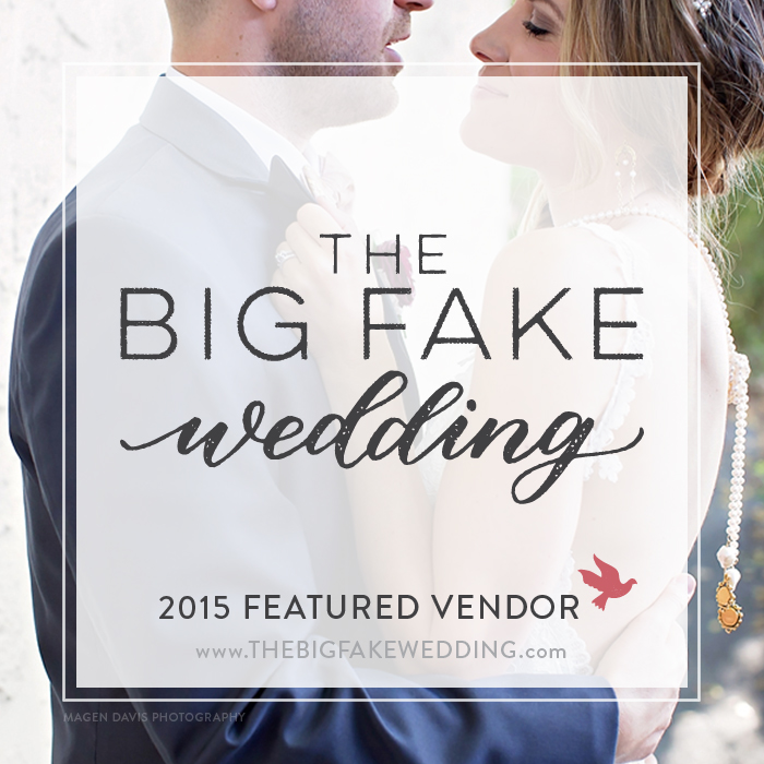 Featured vendor at The Big Fake Wedding